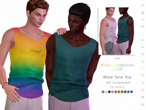The Sims Resource: Pride Collection 2020 Male Tank Top by DarkNighTt