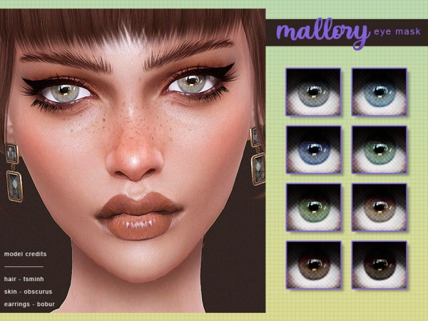 The Sims Resource: Mallory Eye Mask by Screaming Mustard