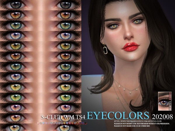 The Sims Resource: Eyecolors 202008 by S Club