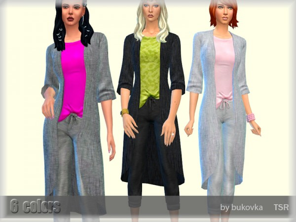 The Sims Resource: Cardigan Outfit by bukovka
