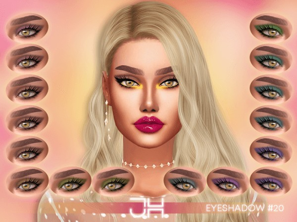 The Sims Resource: Eyeshadow 20 by Jul Haos