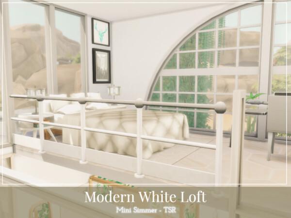 The Sims Resource: Modern White Loft by Mini Simmer