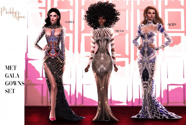 Mably Store: Met Gala Set Gown