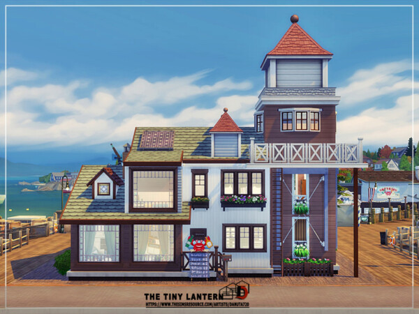 The Sims Resource: The tiny lantern house by Danuta720