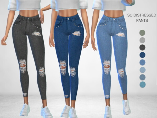 The Sims Resource: So Distressed Pants by Puresim
