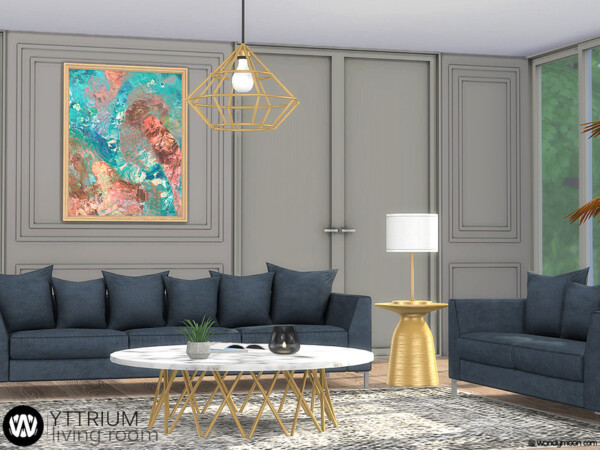 The Sims Resource: Yttrium Living Room by wondymoon