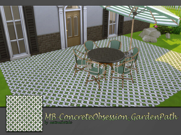 The Sims Resource: Concrete Obsession Garden Path by matomibotaki