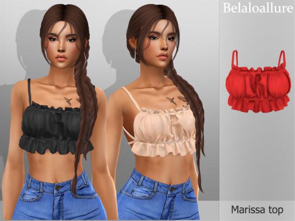 The Sims Resource: Belaloallure Marissa top by belal1997