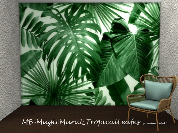 The Sims Resource: Magic Mural Tropical Leafes by matomibotaki