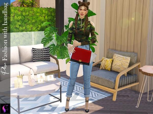 The Sims Resource: Pose Fashion With Handbag by KaTPurpura