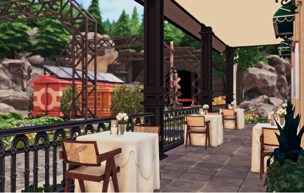Blooming Rosy: Old Railway Bistro