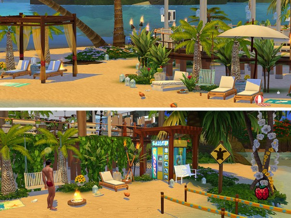 The Sims Resource: Hortensia bar by melapples