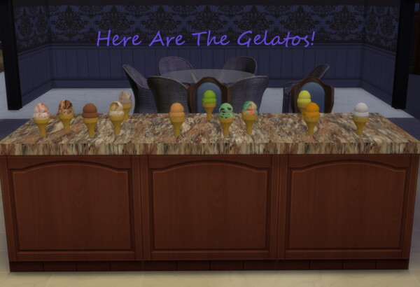 Mod The Sims: Here Is A Gelato Parlor With 16 Custom Flavors by Laurenbell2016