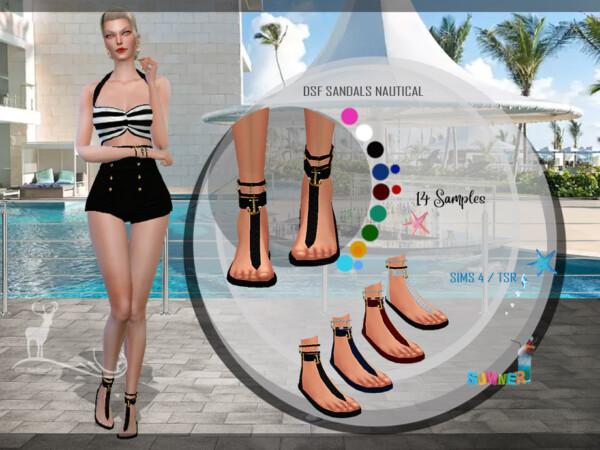 The Sims Resource: Sandalas Nautical by DanSimsFantasy