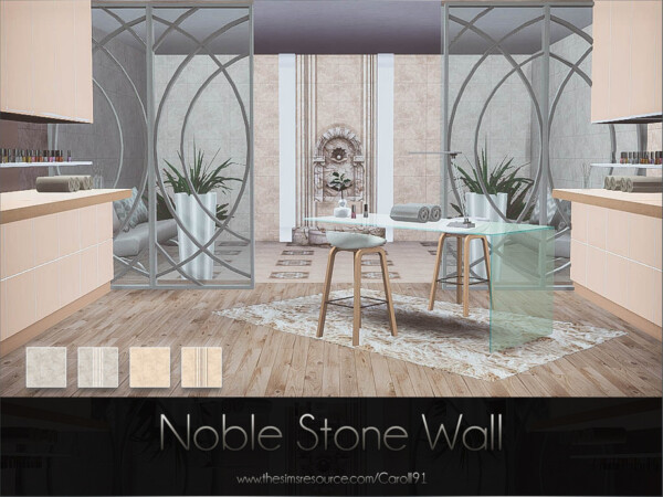 The Sims Resource: Noble Stone Wall by Caroll91