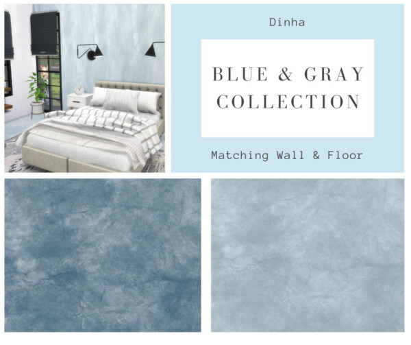 Dinha Gamer: Matching Walls and Floor   Blue and Gray Collection