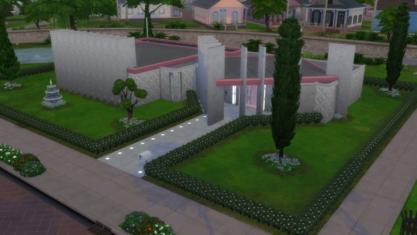 Mod The Sims: The Glendale   Mid Century Modern Googie Style Home by DominoPunkyHeart