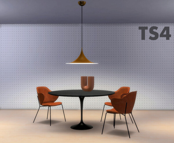 Riekus13: MeinKatz Recolors: Lassen Chair,Tulip Table, Kink Vase, Semi Pendant Lamp