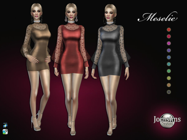 The Sims Resource: Meselie dress by jomsims