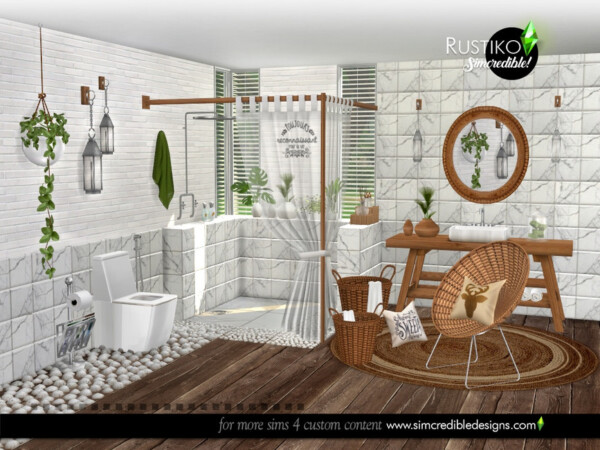 The Sims Resource: Rustiko bathroom by SIMcredible!
