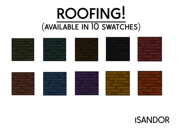 Mod The Sims: Roofing by iSandor
