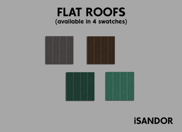 Mod The Sims: Flat roofs by iSandor