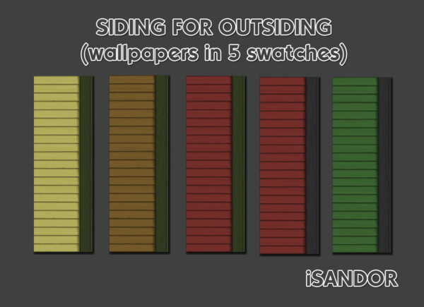 Mod The Sims: Siding for outsiding   wallpapers  by iSandor