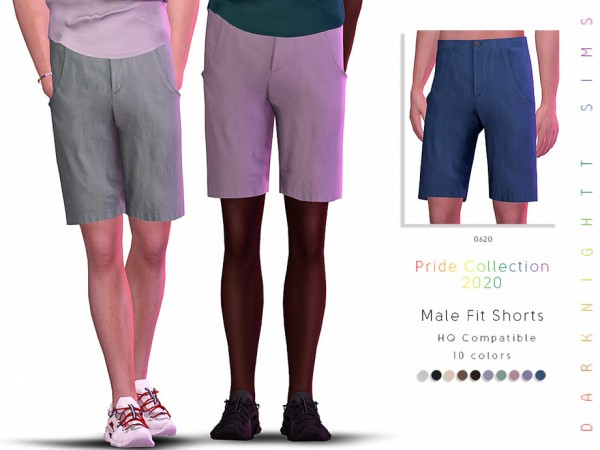 The Sims Resource: Pride Collection 2020 Male Fit Shorts by DarkNighTt