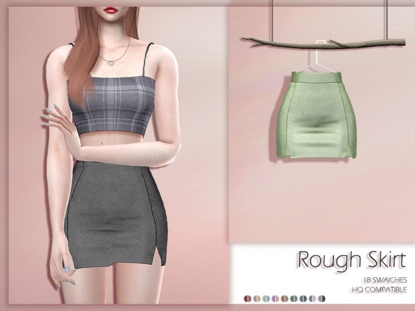 The Sims Resource: Rough Skirt by Lisaminicatsims