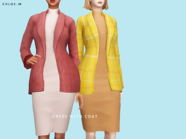 The Sims Resource: Dress with Coat by ChloeM