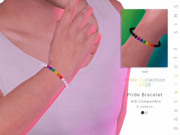 The Sims Resource: Pride Collection 2020   Male Pride Bracelet by DarkNighTt