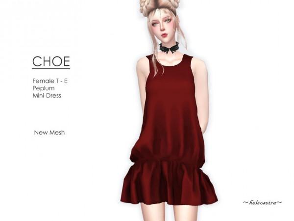 The Sims Resource: Choe Peplum Mini Dress  by Helsoseira