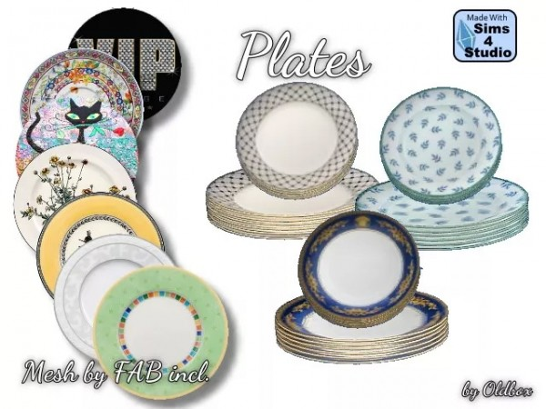 All4Sims: Plates by Oldbox