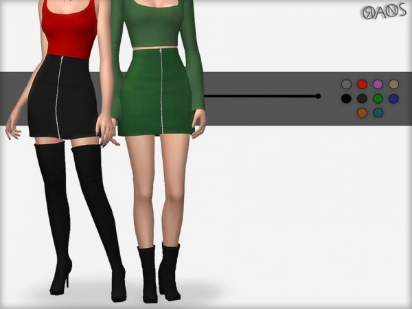 The Sims Resource: Zip Skirt by OranosTR