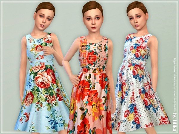 The Sims Resource: Girls Dresses Collection P143 by lillka