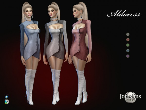 The Sims Resource: Aldoress dress by jomsims