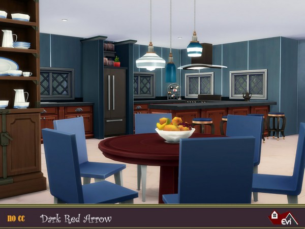 The Sims Resource: Dark Red Arrow House by Evi