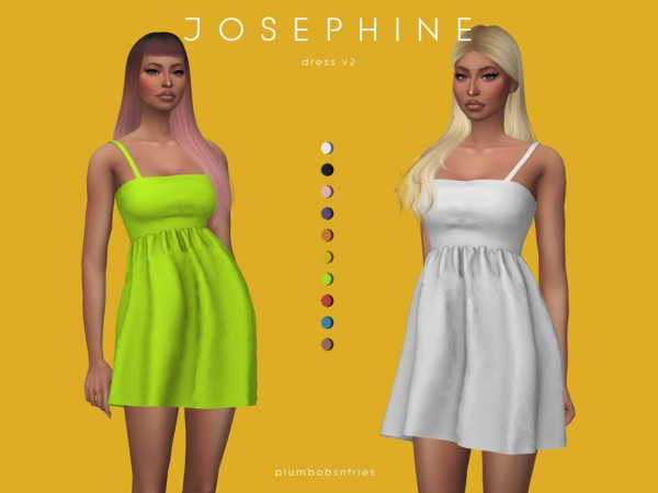 The Sims Resource: Josephine dress v2 by Plumbobs n Fries