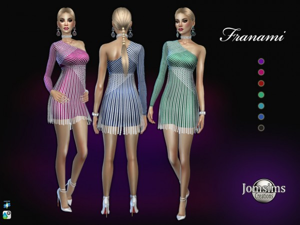 The Sims Resource: Franami dress by jomsims