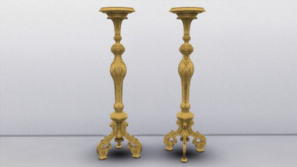 Mod The Sims: Giltwood Torchere by TheJim07