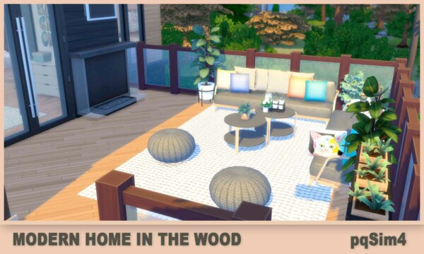 PQSims4: Modern Home In The Wood