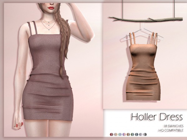 The Sims Resource: Holler Dress by Lisaminicatsims
