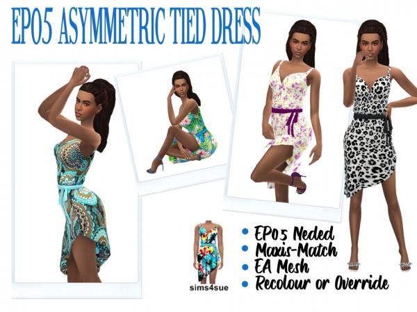 Sims 4 Sue: Asymetric Tied Dress