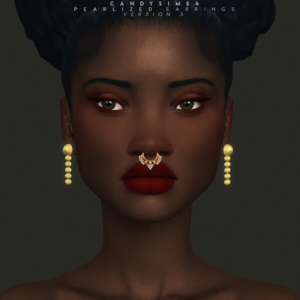Candy Sims 4: Pearlized Earrings