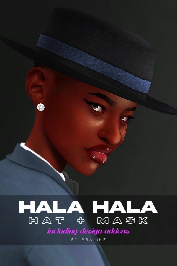 Praline Sims: Hala Hala mask and hat