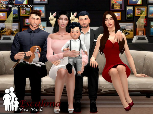 The Sims Resource: Escalona   Pose Pack by Beto ae0