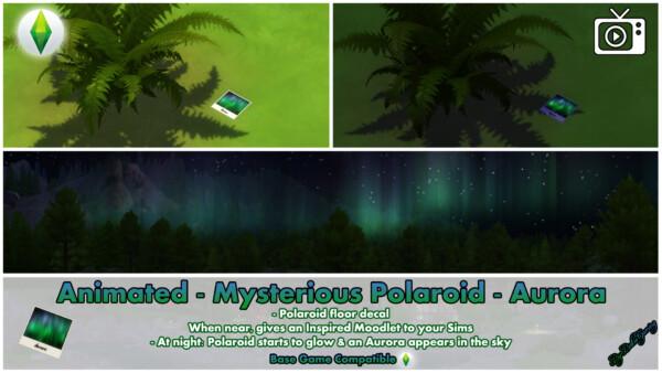 Mod The Sims: Animated   Mysterious Polaroid   Aurora by Bakie