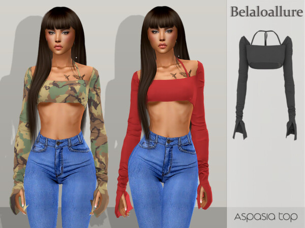 The Sims Resource: Aspasia top by belal1997
