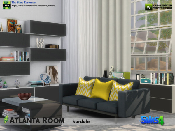 The Sims Resource: Atlanta Room by kardofe