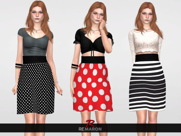 The Sims Resource: Balone Skirt by remaron